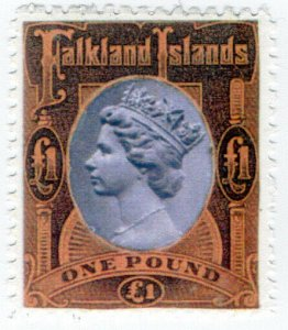 (I.B) Cinderella Collection : Gerald King Elizatoria £1 (Falkland Islands)