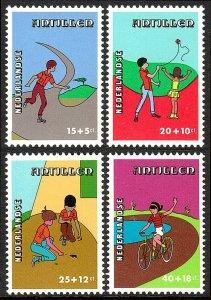 Netherlands Antilles B156-B159, MNH. Roller skating,Kite flying,Bicycling, 1978