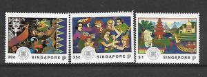 SINGAPORE, 634-636, MNH, VISIT ASEAN YEAR, 25TH ANNIV.