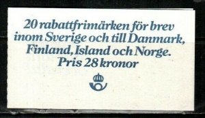 Sweden Scott 1359a Mint NH booklet (Catalog Value $30.00)
