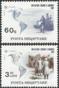 1992   ALBANIA  -  SG.  2535 / 2536  -  EUROPA  - MNH