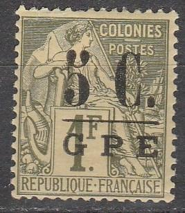 Guadeloupe #11 F-VF  Unused CV #17.00  (A13080)