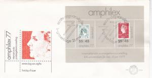 Netherlands 1977 Amphilex 77 Minisheet FDC Unadressed VGC No 159A