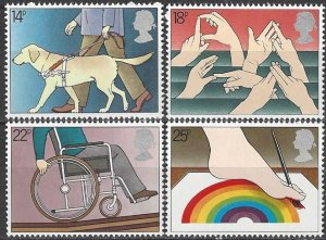 Great Britain 937-40  MNH  Year of Disabled