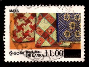 Sri Lanka SURCHARGED 1997 Mats Handicrafts 11r on 10.50r Scott.1190 Used (#2)