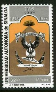 MEXICO 2112, Sinaloa State University, 125th Anniv. MINT, NH. F-VF. (69)