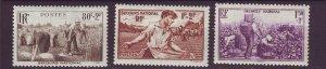 J24604 JLstamps 1940 france part of set mh #b104-6 farming