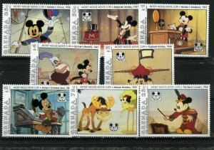 GRENADA 1993 DISNEY MICKEY MOUSE 65th ANNIVERSARY SET OF 8 STAMPS MNH