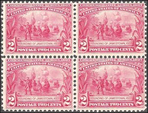 329 Mint,OG,NH... Block of 4... SCV $320.00