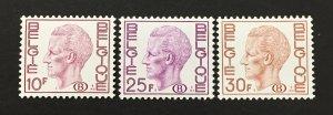 Belgium 1974-8 #o83-5, King Baudoin, MNH