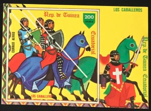 Equatorial Guinea #MiBl294 MNH S/S CV€7.00 Knights on Horse