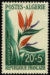Algeria #B95  MNH - Flowers Bird of Paradise (1958)