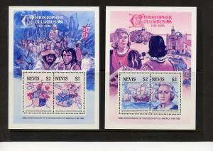 Nevis 1986   500th.Ann.Discovery of .America/Columbus  DELUXE SS Color Proof (2)