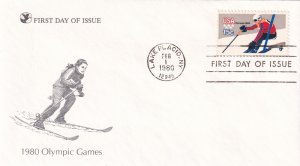 1980, Olympic Games, RD, FDC (E11324)