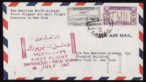 #12789 -  Syria 26 July 1947 - first flight Pan-Am from Dam