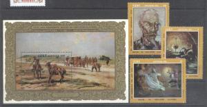 Cuba 1972 Paintings, set+perf.sheet, MNH         AE.040