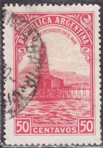 Argentina 444 USED 1936 Petroleum Oil Well