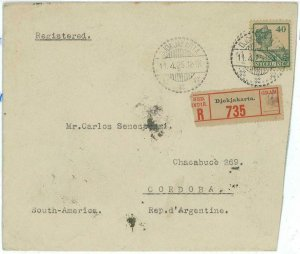 93712 - DUTCH INDIES Indonesia  POSTAL HISTORY - SINGLE stamp COVER to ARGENTINA