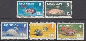Ascension 340-344 Sea Shells MNH VF