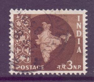 India Scott 304 - SG401, 1958 Map 3np used