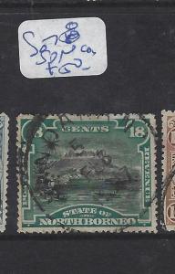 NORTH BORNEO (P0310B)  18C MOUNTAIN  SG 78  SON   CDS  VFU