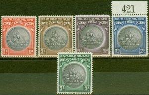 Bahamas 1930 Tercentenary set of 5 SG126-130 V.F Lightly Mtd Mint