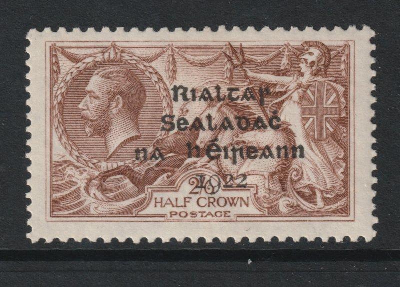 Ireland a GB KGV 2/6 with 1922 overprint