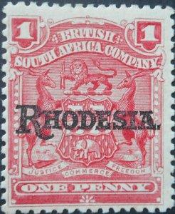 Rhodesia 1909 One Penny SG 101 mint