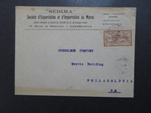 French Morocco SC# 51 On Cover / Single Franking - Z8354