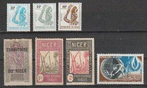 Niger Mint OGH & OGNH lot #190923-4