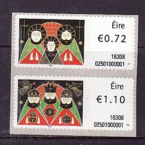 Ireland-stamps on a roll [ SOAR ] -unused NH set-self-adhesives-Christmas-2016-
