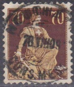 Switzerland #141 F-VF Used CV $17.00 (ST1291)