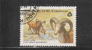 Uzbekistan  Scott#  104  CTO  (1996 Sheep)