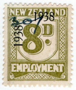 (I.B) New Zealand Revenue : Employment 8d (1938)