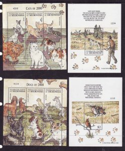 Micronesia-Sc#408-11- id7-unused NH sheets-Animals-Dogs & Cats-2000--