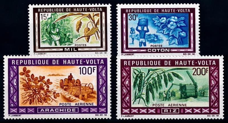 [66523] Burkina Faso Upper Volta 1969 Flora Plants Cotton Rice Millet  MNH
