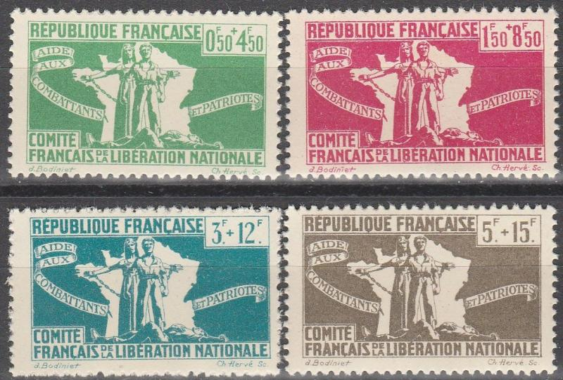 French Colonies #B3-6  MNH F-VF CV $5.00  (SU4799)