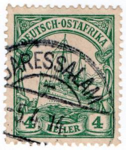 (I.B) Germany Colonial Postal : East Africa 4h (Daressalam)