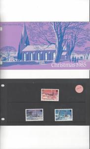 Isle of Man 294-6 Christmas 1985 MNH Presentation Folder