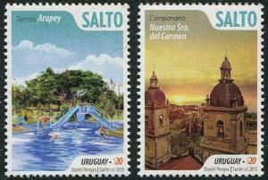 HERRICKSTAMP NEW ISSUES URUGUAY Tourism, Salto