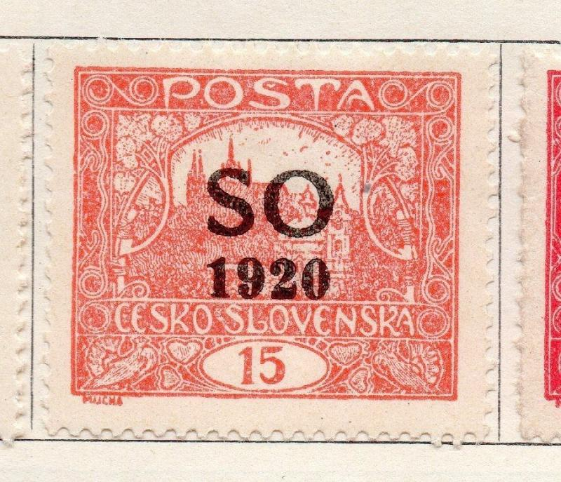 Silesia (Eastern) 1920 Czecho-Slovakia Optd Issue Fine Mint Hinged 15h. 170066