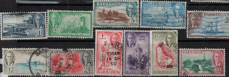 Barbados 1920 SC 216-227 Used SCV $94.80 Set