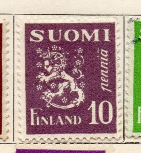 Finland 1930 Early Issue Fine Mint Hinged 10p. 105536