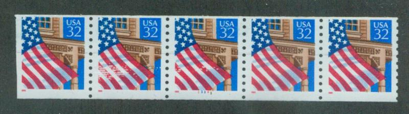 U.S. Scott 2913 FVF MNH PNC Strip of 5