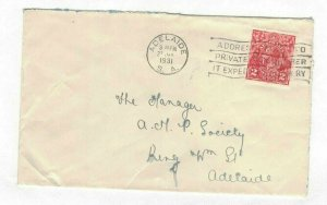APH1436) Australia 1931 2d Red KGV Die I Small Cover