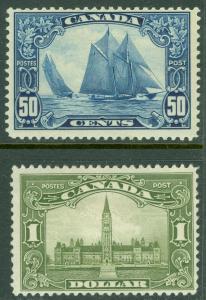 EDW1949SELL : CANADA 1929 Scott #158-59 Top Values. Mint OGH. Catalog $525.
