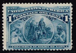 US STAMP  # 230 1c 1893 Columbian Issue Unused NG stamp