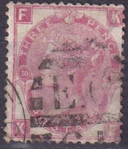Great Britain #49 Plate 10   Used  CV $145.00 (Z3420)