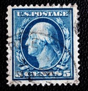 US Stamp Sc# 378 Used JUMBO Superb Stamp Well Centered Upside Down P Wmk