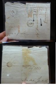 Malta 1861 Stampless Cover to Italy P Mark (11beq)